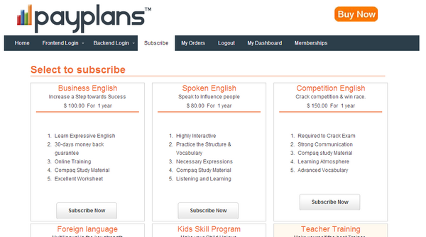 payplans joomla extension
