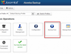 Akeeba Backup 5.0.4 core – J2.5/3.x