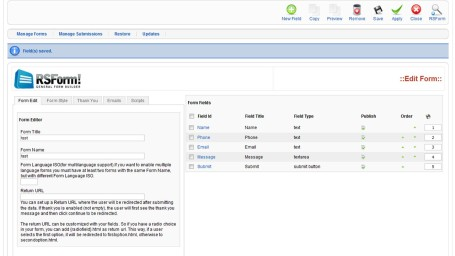 RSform Pro v1.52.4 for Joomla 3.x