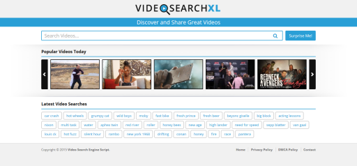 VideoSearchXL Multi Source Video Search Engine v1.1