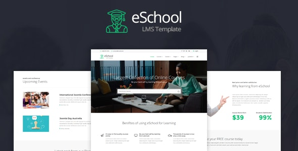 eSchool v1.0 – Education & Joomla LMS Template